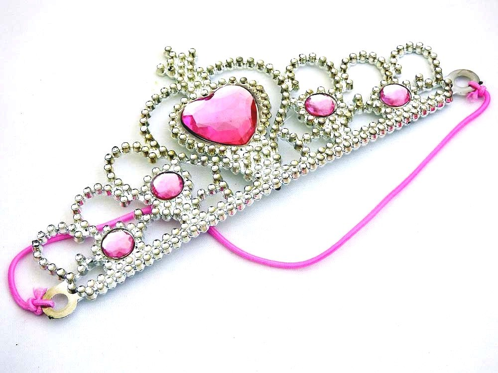 Elasticated Crystal Heart Tiara
