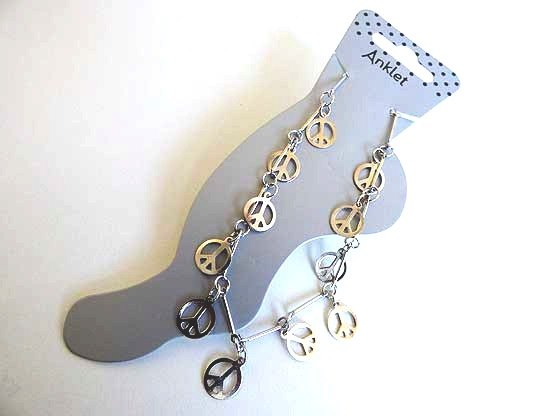 Peace & Love Chain Anklet