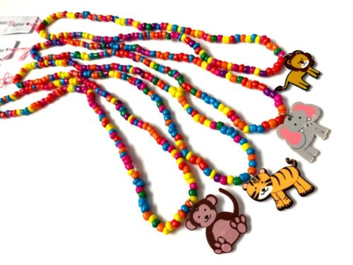 Animal Bright Beaded Necklace