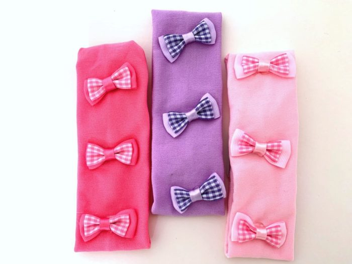 Bows in a Row Alice Band