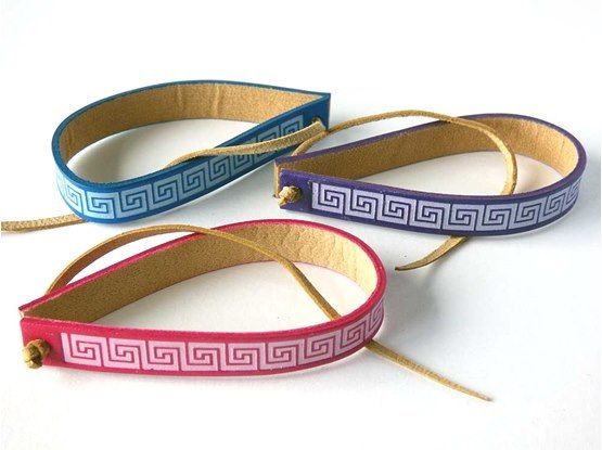 Faux Leather Wrist Band