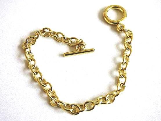 Gold Metal Link Bracelet