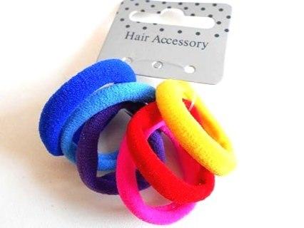 6 Bright Endless Hair Elastics