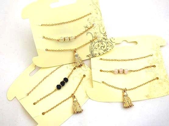 Triple Chain Tassel Necklace