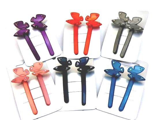 Twinkly Butterfly Hair Slides