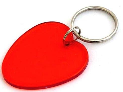 Acrylic Love Heart Key Ring