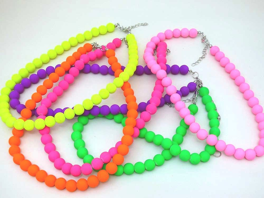 Neon Chunky Bead Necklace