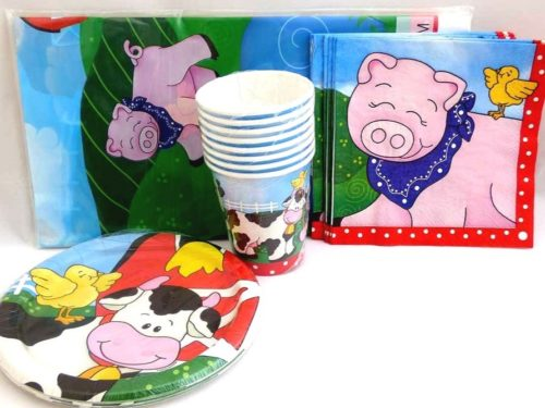 Farm Friends Table Setting Party Pack for 8 people