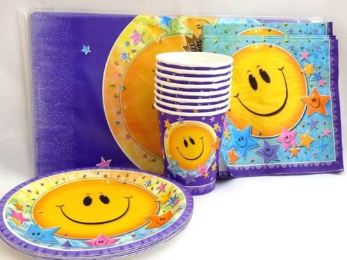 Smiley Face Tableware Party Set