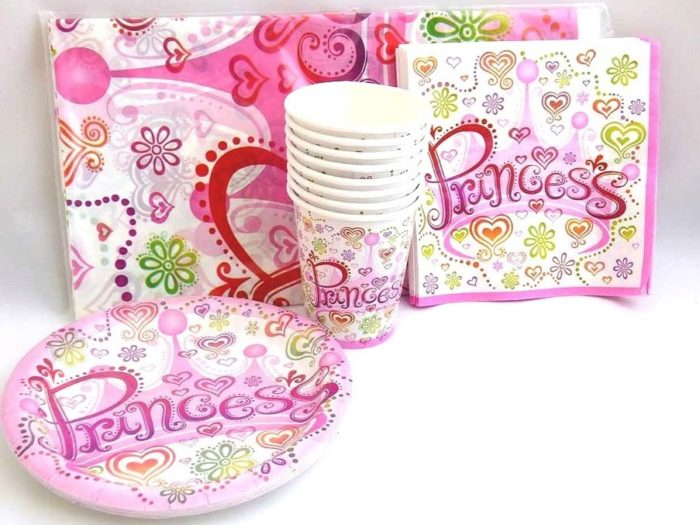 Princess Diva Table Setting Party Pack for 8 people
