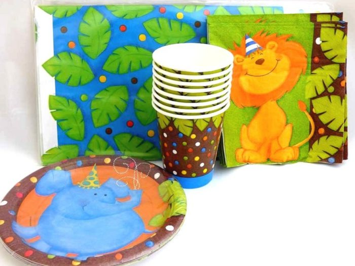 Jolly Jungle Table Setting Party Pack for 8 people
