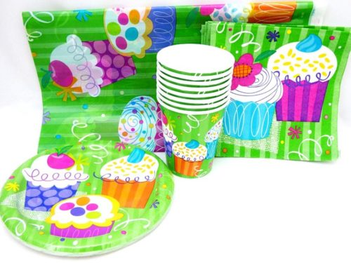 Cupcakes Table Setting Party Pack for 8 people