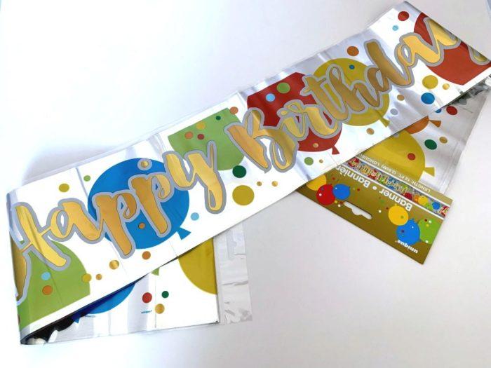 Gold Birthday Banner