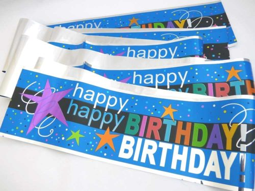 Cosmic Happy Birthday Banner
