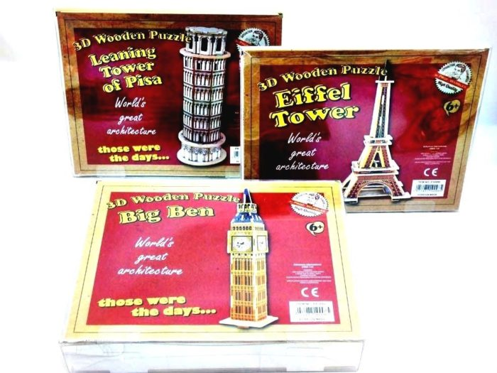 3D Wooden Puzzle - World's Great Architecture