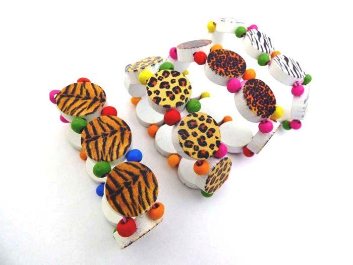 Wooden Animal Print Bracelet
