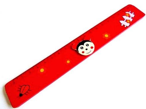 Wooden Ladybird Ruler
