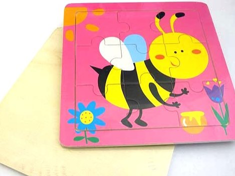 Wooden Bumble Bee Jigsaw Puzzle