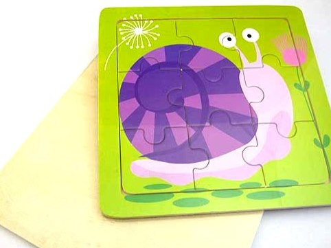 Wooden Snail Jigsaw Puzzle