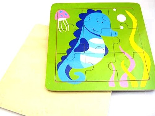 Wooden Seahorse Jigsaw Puzzle
