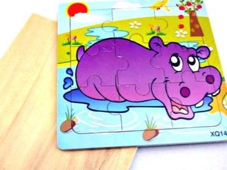 Wooden Hippopotamus Jigsaw Puzzle