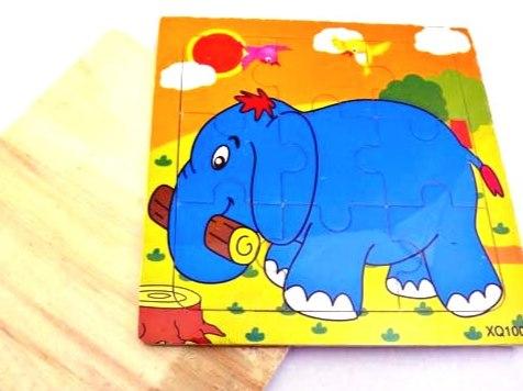 Wooden Elephant Jigsaw Puzzle