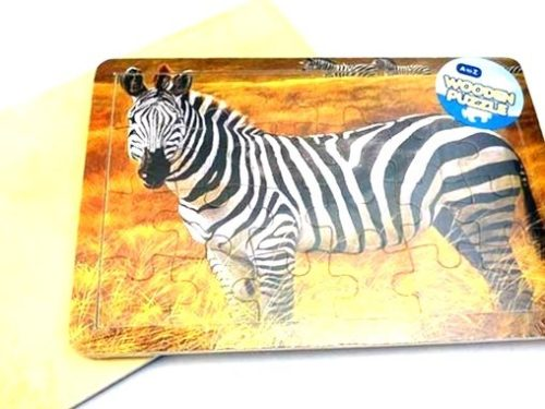 For Real Wooden Zebra Jigsaw Puzzle