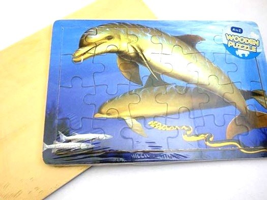 For Real Wooden Dolphin Jigsaw Puzzle