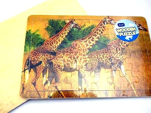 For Real Wooden Giraffe Jigsaw Puzzle