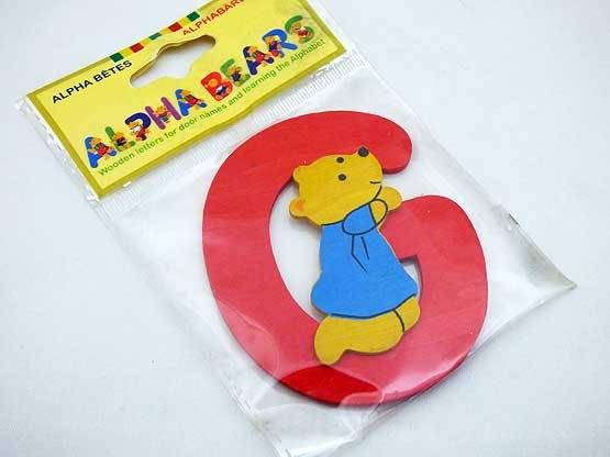 Wooden Alphabet Bear G