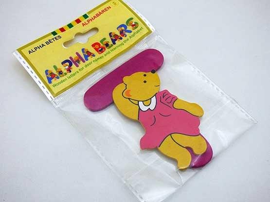 Wooden Alphabet Bear T