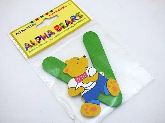 Wooden Alphabet Bear V