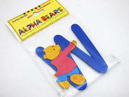 Wooden Alphabet Bear W