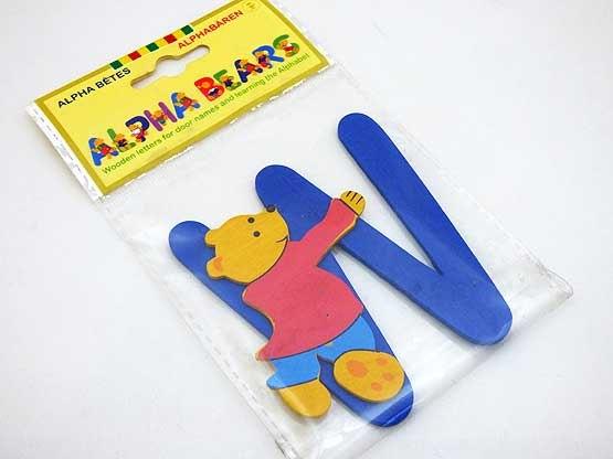 Wooden Alphabet Bear W