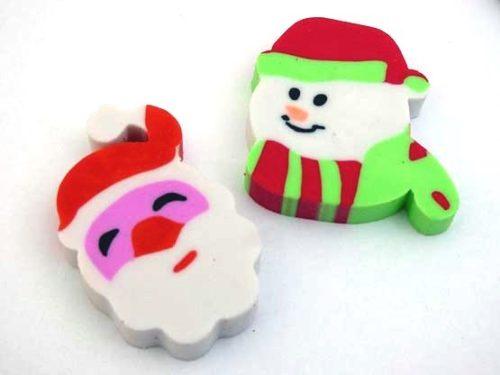 Santa or Snowman Eraser