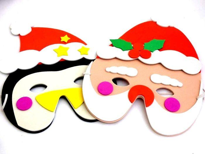 Santa or Xmas Penguin Mask