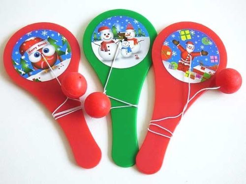 Jolly Christmas Paddle Bat & Ball