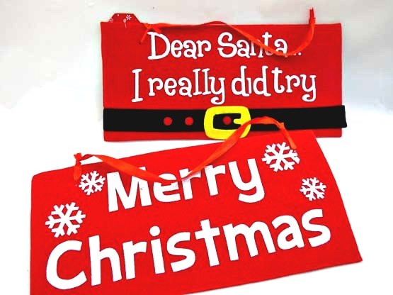 Felt Christmas Plaque