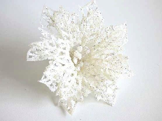 Glitter Snowflake Hair Clip