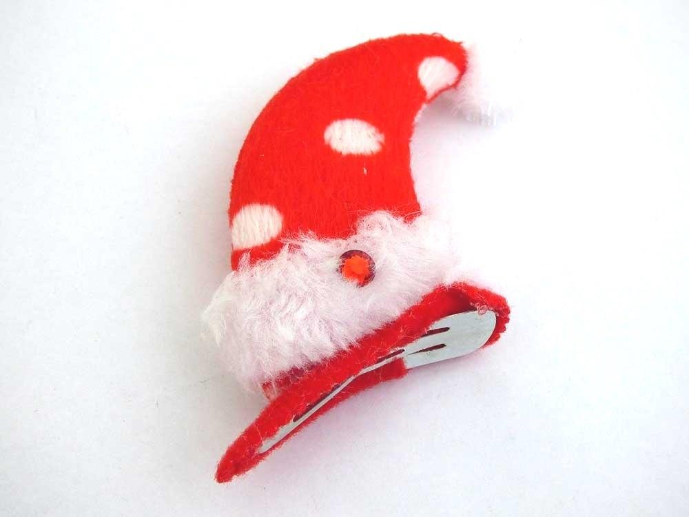 Mini Santa Hat Hair Clips