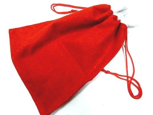 Drawstring Felt Santa's Sack