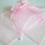 Large Pink Organza Drawstring Bag