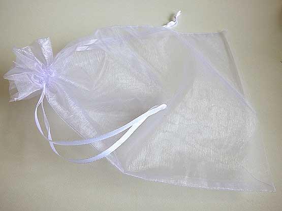 Giant White Organza Drawstring Bag