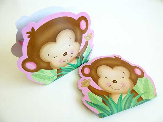 Pink Monkey Favour Box