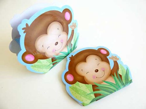 Blue Monkey Favour Box