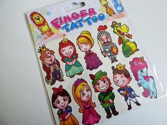 Fairytale Finger Tattoos