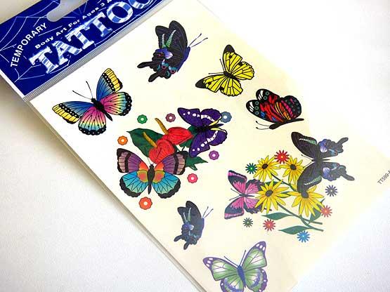 Bright Butterfly Tattoo Sheet