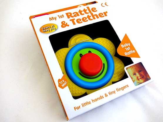 My First Smiley Flower Rattle & Teether