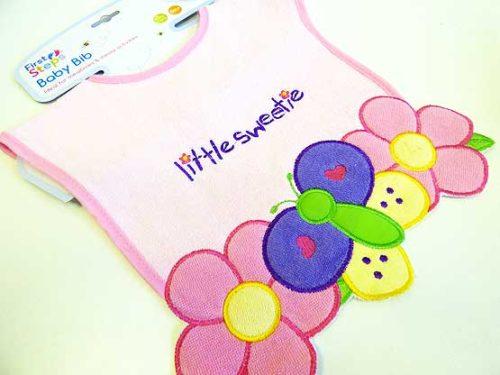 Little Sweetie Butterfly Bib
