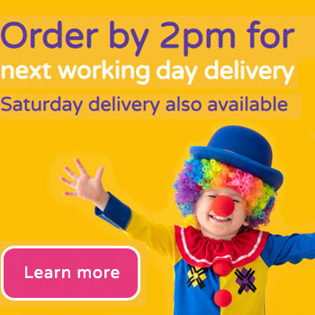 Order your party bags by 2pm for next working day delivery